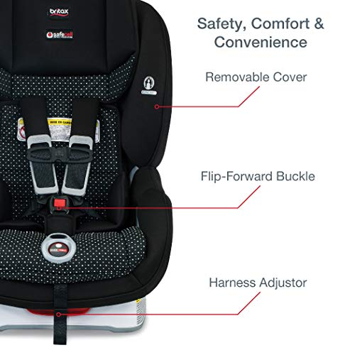 51EnbXlISkL - Britax Marathon ClickTight Convertible Car Seat | 1 Layer Impact Protection - Rear & Forward Facing - 5 To 65 Pounds, Verve