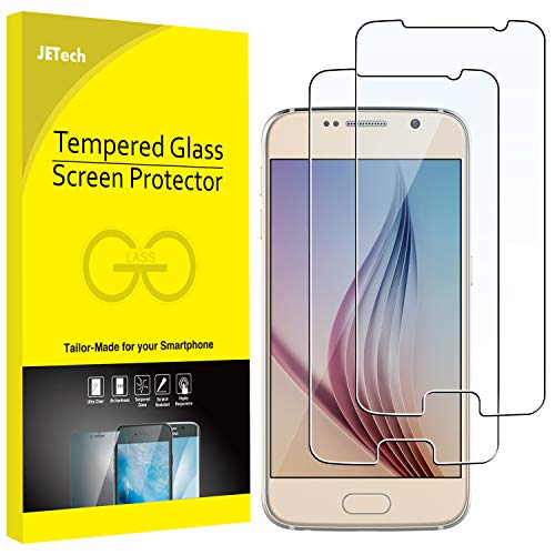 JETech Screen Protector for Samsung Galaxy S6, Tempered Glass Film, 2-Pack