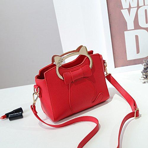 GUANGMING77 Kleine Tasche Tasche Lady Tide Mini Messenger Bag Schulter gules zPedu9
