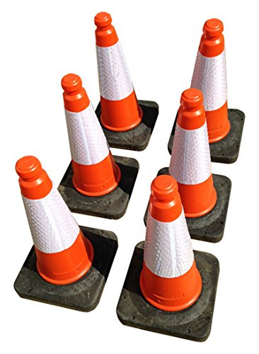 TRAFFIC CONES - Pack of 6, Highwayman cones with reflective strips and weighted bases. Height ... Learning with Linden Ltd