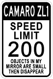 CHEVY CAMARO ZL1 Speed Limit Sign - 10 x 14 Inches