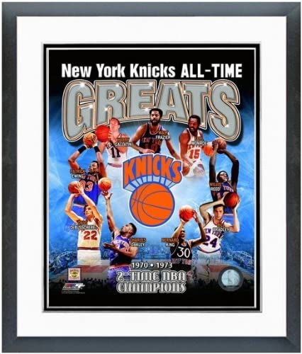 New York Knicks All Time Greats Photo Matted /& Framed 12.5 x 15.5