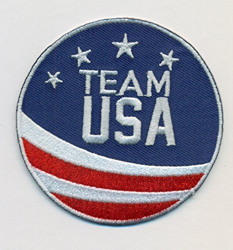 Team USA Embroidered Iron-On Patch Size 2 3/4