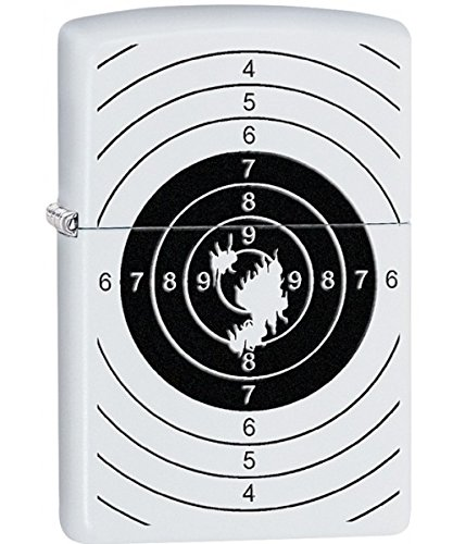 Zippo Target with Holes White Matte Pocket Lighter