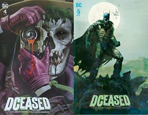 DCEASED #4 + 5 Arthur Suydam Joker and Batman Forbidden Planet NYC Variant Cover Set
