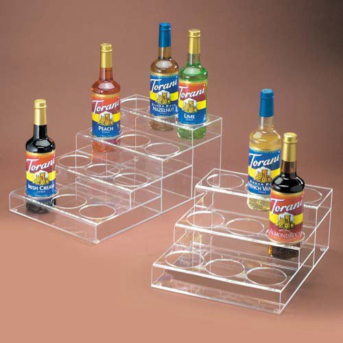 Cal-Mil P-296 Cal-Mil P-296 Flavored Syrup Bottle Organizer, 3 Tiers, Clear