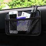 EarthSafe® Auto Lagerung Netz Beutel, Ineinander greifen Car Side Pocket Organizer Smartphone-Halter-Beutel (Schwarz)