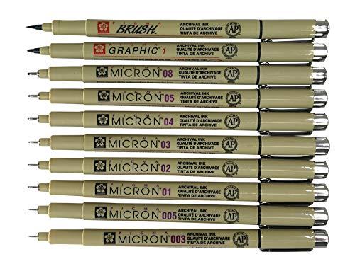 Sakura Pigma Micron 10 Fineliner pens