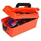 Plano Shallow Dry Storage Box, Orange