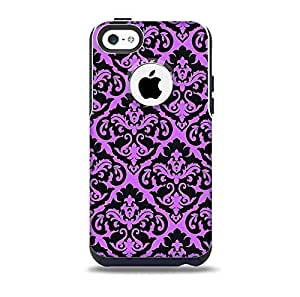 The Black & Purple Delicate Pattern Skin for the iPhone 5c OtterBox Commuter Case (Decal Only)