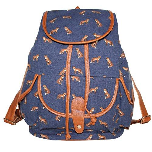 tela zaino trekking Womens Pixnor College Campus palestra viaggio Borsa a pelle Bookbag Blu zaini Pack Scuola tracolla XCxAqxwT