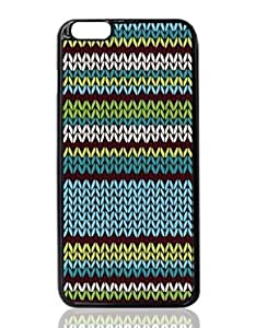 Blue Knitted Stripes Custom Hard Plastic back cell Phones Case for Apple iphone6 plus - iphone 6 plus 5.5 inch Case Cover