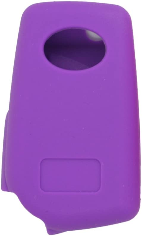 SEGADEN Silicone Cover Protector Case Skin Jacket Compatible with TOYOTA 3 Button Flip Remote Key Fob CV9408 Purple