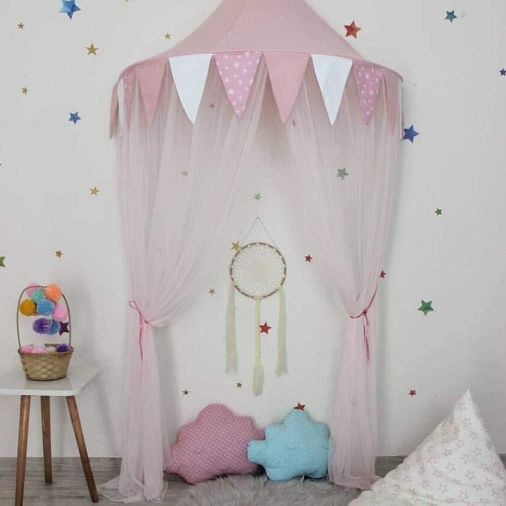Media c/úpula Ideal para la decoraci/ón de la habitaci/ón de los ni/ños Bestlle Mosquitera de Gasa para Cama de Princesas y ni/ñas