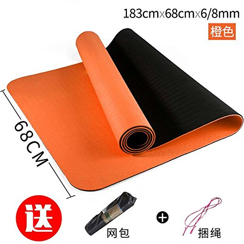 The Orange 68 8Mm( Beginner) YOOMAT Le Girl-Ups AugHommester Un Tapis de Yoga antidérapant Tapis de Fitness Accueil grand et épais Hommes débutants66990 Support écran Plat