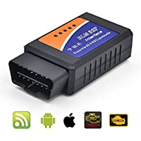 NPOLE ELM327 Wireless OBD2 Scanner OBD II Code Reader Car Diagnostic Tool Connects Via WiFi With IOS, Android & Windows Device, More Than 3000 Code Database for Most Vehicle (WIFI)