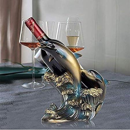 Estante De Vino Estante De Botellas Estante De Vino Estante De Almacenamiento Estante De Vida Decoración Creativa Estante De Vino De Delfín Creativo Gabinete De Vino Joyería Artesanal Vinotecas