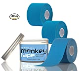 Remarkable Monkey Tape -3 Pack Kinesio Sports Tape in Waterproof Container