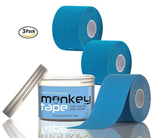 Remarkable Monkey Tape -3 Pack Kinesio Sports Tape in Waterproof Container by Monkey Tape
