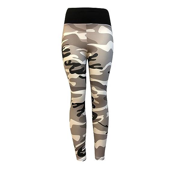 Pantalones Yoga Mujeres Estampado de Camuflaje Leggins Fitness ...