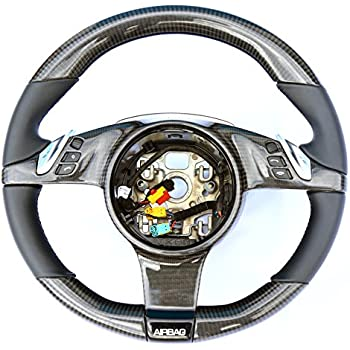 Carbon Fiber steering wheel Porsche Cayenne - Cayenne Turbo - Turbo S GTS 2011-2014 genuine leather