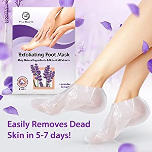 2018 Exfoliating Foot Peel Mask For Soft Touch 2 Pairs Baby Foot Peel - Peeling Away Calluses Dead Skin Remover for Feet - Repair Rough Heels - Lavender Baby Feet