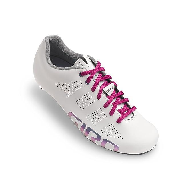 6898e506f Amazon.com  Giro Empire Women s ACC White Reflective Road Bike Shoes ...