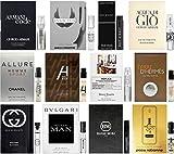 (US) Best Selling Designer Fragrance Sampler for Men - Lot x 12 Cologne Vials