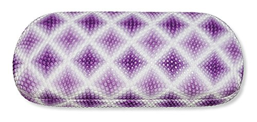 Hard Eyeglass Case, Glasses Holder For Women, Girls, Teens- Diamond Design, Purple