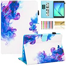 "Galaxy Tab A 8.0 inch Case, SM-T350 Case, Dteck Synthetic Leather Smart Wallet Case with [Auto Sleep Wake Feature] Cute Flip Folio Stand Cover for Samsung Galaxy Tab A 8"" Tablet-Cloud"