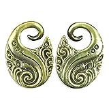 Swirl Design Brass Ear Weights Hangers