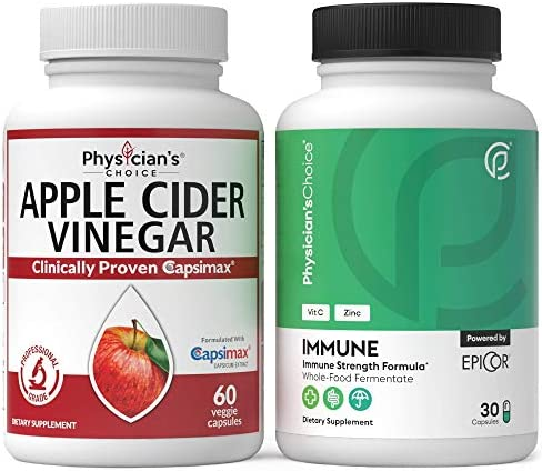 Apple Cider Vinegar Capsules for Weight Loss Support + Immune Support - Immune Booster Featuring EpiCor 1