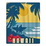 Hawaii Surfing Quick-drying Pool Beach Towel Travel Bath Towel For Kids
