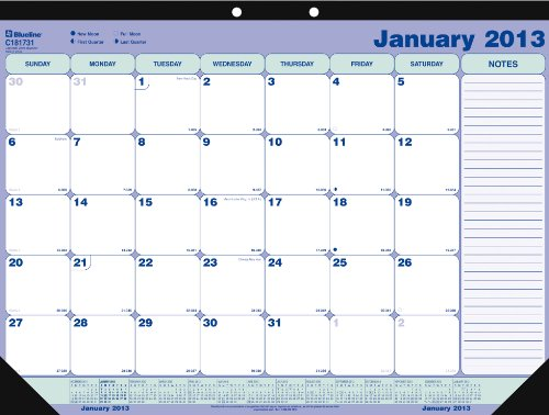 Blueline 2013 Monthly Desk Pad, 21.25  x 16 Inches