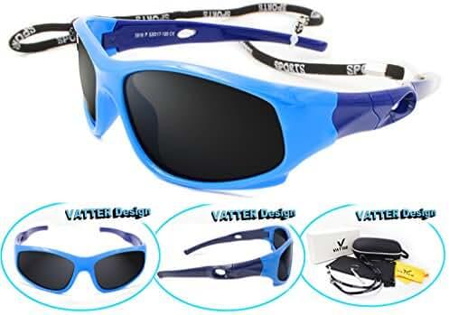 VATTER TR90 Wayfarer Polarized Sport Sunglasses For Kids Boys Girls Chilrens