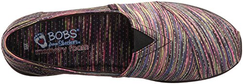 Skechers BOBS from Women's Super Plush Flat Black/Multi OK1UD9x8JJ