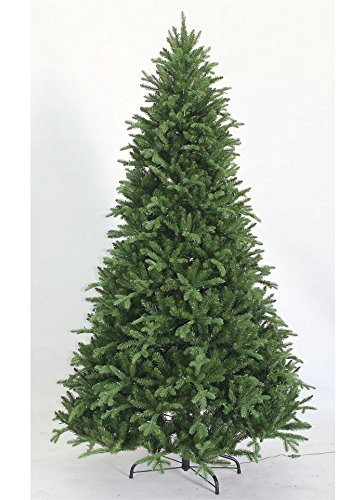 Fir Unlit Artificial Christmas Tree (KING OF CHRISTMAS 7.5 Foot Scarlet Fir Artificial Christmas Tree Unlit)