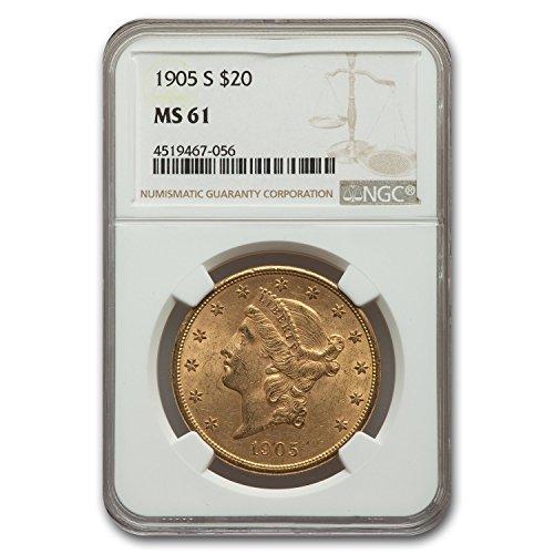 1905 S $20 Liberty Gold Double Eagle MS-61 NGC G$20 MS-61 NGC
