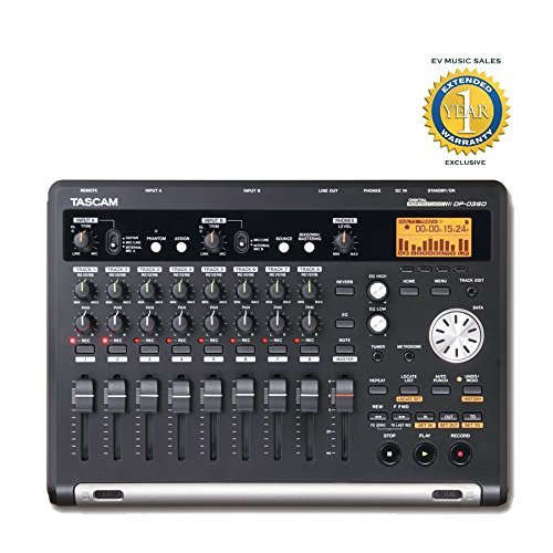 8-track Digital Portastudio Recorder with 1 Year Free Extended Warranty - TASCAM DP-03SD