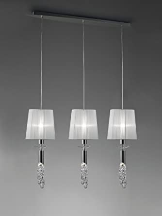 Mantra - Lampara colgante colección Tiffany 3 pantallas 3855 ...