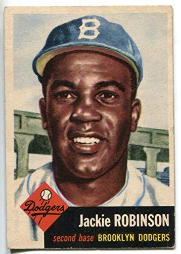- Jackie Robinson 1953 Brooklyn Dodgers Topps Baseball Card