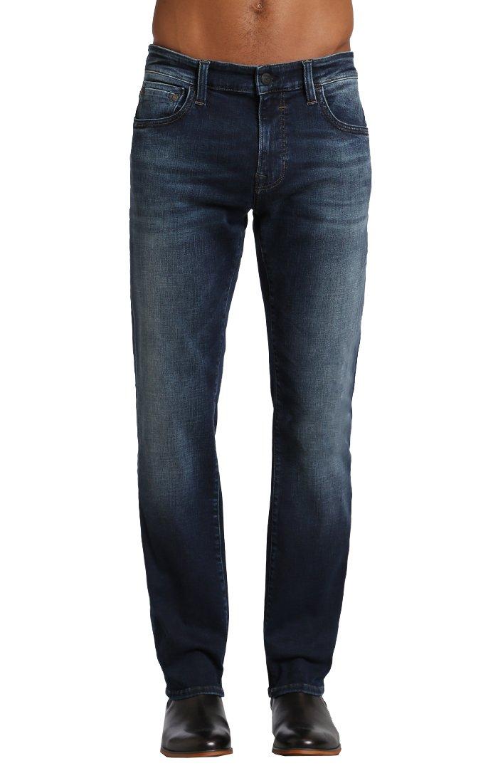 Mavi Men's Zach Regular-Rise Straight-Leg Jeans, Smoke Chelsea, 33W x 30L by Mavi (Image #1)