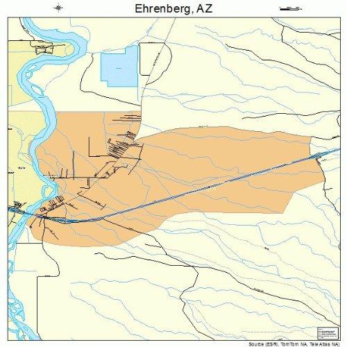 Amazon Com Large Street Road Map Of Ehrenberg Arizona Az