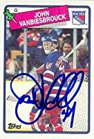 Autograph Warehouse 68153 John Vanbiesbrouck Autographed Hockey Card New York Rangers 1988 Topps No. 102