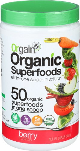 Juice Fruit Antioxidant (Orgain Organic Superfoods, Berry, 0.62 Pound, 1 Count, Vegan, Non-GMO, Gluten Free)