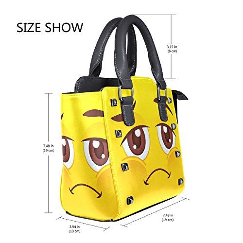Borsa Coosun La Tracolla Maniglia In Emoji Multicolore Medio A Donne Emoticon Pelle Pu Superiore Crossbody xX0XqnrHg