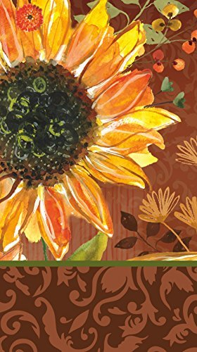 - Cypress Home Sunflower Blooming Paper Guest Towel, 15 count