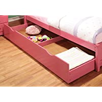 Furniture of America Maculay Trundle, Twin, Pink