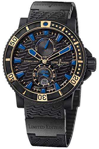 Ulysse Nardin Maxi Marine Diver Black Sea Black Face Black Rubber Strap Date Limited Edition Mens Watch 263-92LE-3C/923-RG (Maxi Nardin Ulysse)