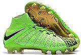 Men's High Ankle Soccer Cleats Nike Hypervenom Phantom III DF FG Green/Black (8.5 US)
